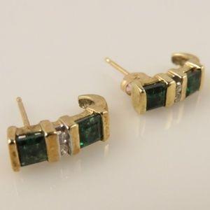 Jewelry - 14k Chrome Diopside Earrings